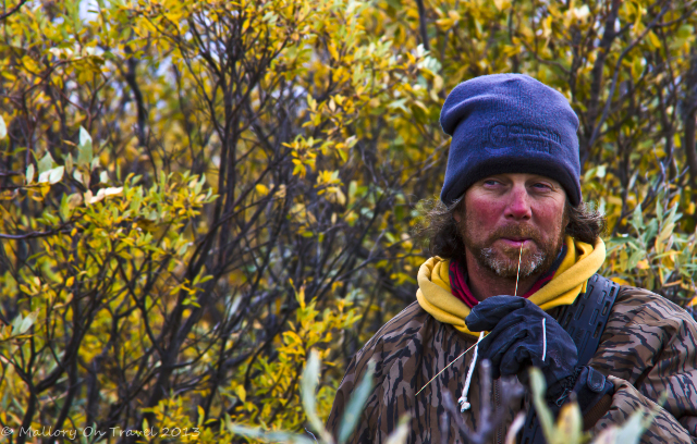 Moose and bear hunting guide at Hudson Bay, Manitoba in Canada on Mallory on Travel adventure, adventure travel, photography Iain Mallory-300-154_bear_guide