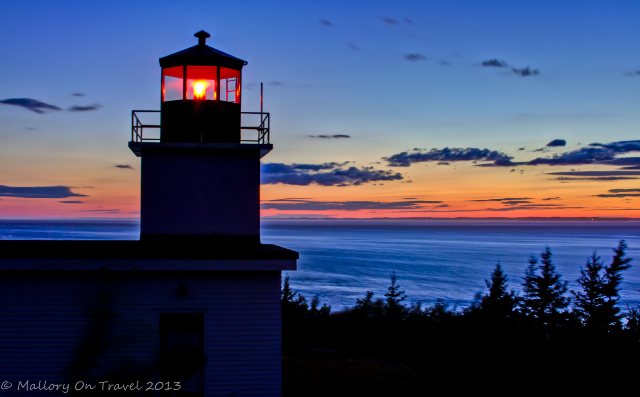 Long Eddy Point Lighthouse on Grand Manan in the Bay of Fundy, New Brunswick, Canada on Mallory on Travel adventure, adventure travel, photography Iain Mallory-300-23_sunset_lighthouse