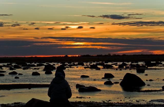Manitoba sunrise, early morning on the coast of Hudson Bay, Canada on Mallory on Travel adventure, adventure travel, photography Iain Mallory-300-81_canada_sunrise