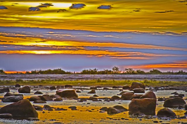 Manitoba sunrise, early morning on the coast of Hudson Bay, Canada on Mallory on Travel adventure, adventure travel, photography Iain Mallory-300-85_sunrise_manitoba