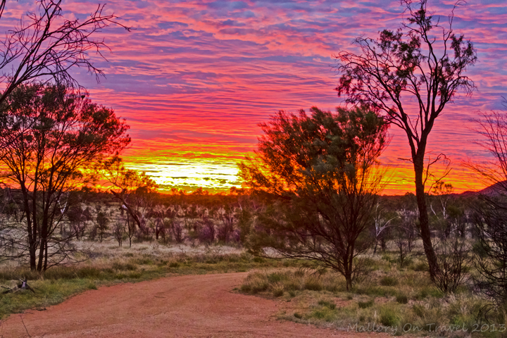 Rising sun on the Larapinta Trail in the west MacDonnell Ranges in the Northern Territory, Australia on Mallory on Travel adventure, adventure travel, photography Iain Mallory-300-98_larapinta_sunrise