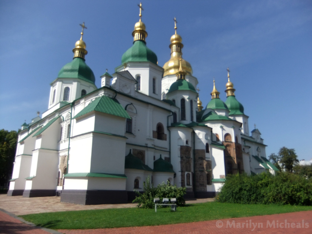 Bell tower of St Sophia in Kiev, the Ukraine on Mallory on Travel adventure, adventure travel, photography kiev st sophias