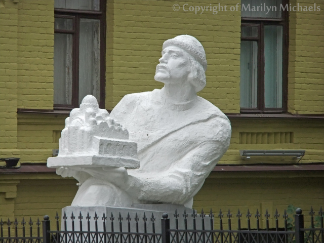 A statuette in Kiev, the capital city of the Ukraine  on Mallory on Travel adventure, adventure travel, photography