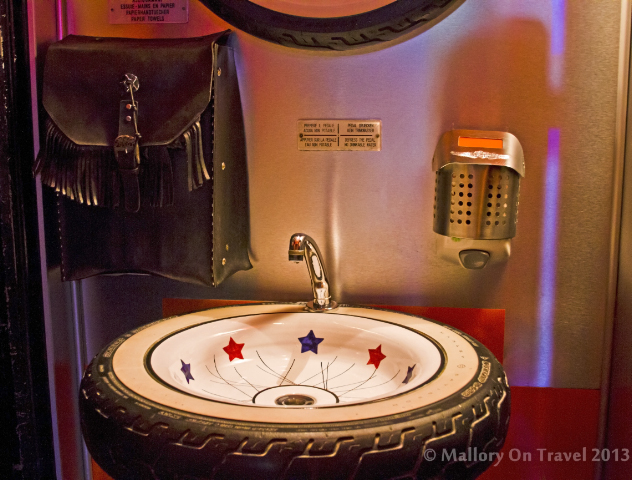 The toilet of the  Cadillac Ranch theme park diner in the village of Pesche, Molise in Italy on Mallory on Travel adventure, adventure travel, photography Iain Mallory-300-198_cadillac_ranch