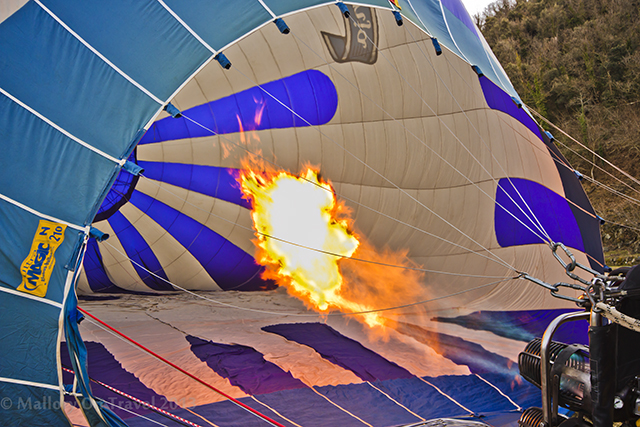 Hot air balloon being inflated in the La Garrotxa region of the Catalan Pyrenees on Mallory on Travel adventure, adventure travel, photography Iain Mallory-300-13 ballooning_catalan