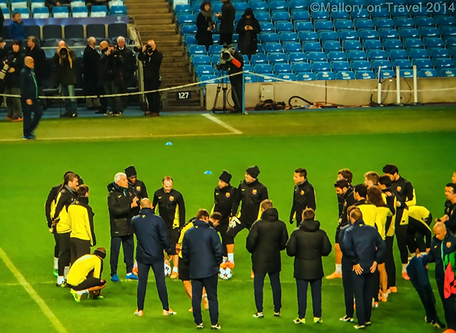 FC Barcelona football players warming up before training at the Etihad Stadium, Manchester on Mallory on Travel adventure, adventure travel, photography Iain Mallory-300-2 fcbarcelona_players