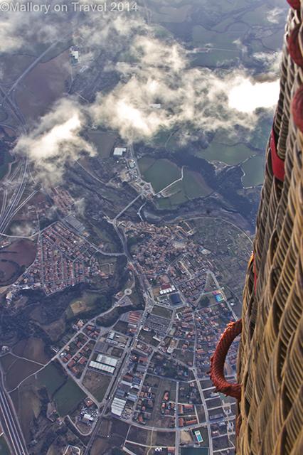 Looking down on the cities of La Garrotxa on a hot air balloon flight in the Spanish on Mallory on Travel adventure, adventure travel, photography Iain Mallory-300-46 la_garrotxa