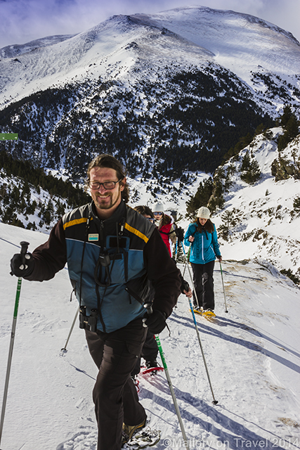 Snowshoeing at Vall de Núria in Costa Brava in the Catalan Pyrenees, Spain on Mallory on Travel adventure, adventure travel, photography Iain Mallory-300-70 snowshoeing