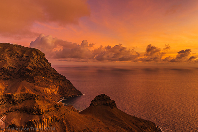 Sunrise over Turk's Cap on the South Atlantic island of St Helena on Mallory on Travel adventure, adventure travel, photography Iain Mallory-309 turks_cap