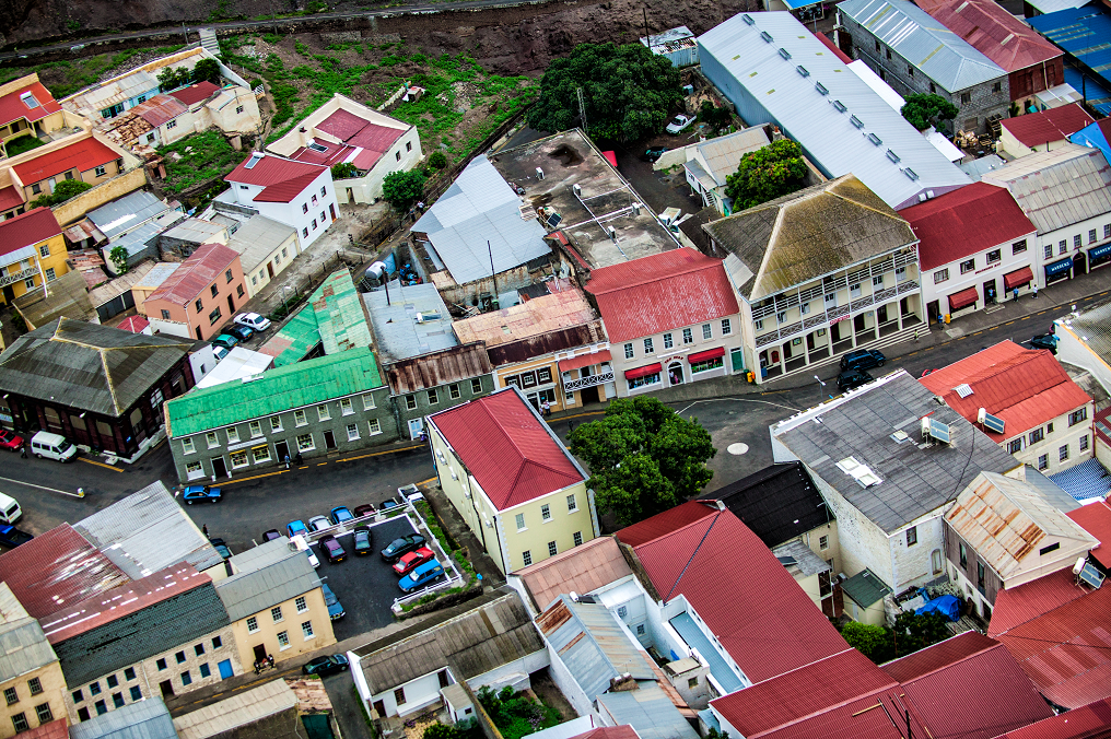 Jamestown, St Helena from the air, Photograph courtesy of St Helena Tourism on Mallory on Travel adventure, adventure travel, photography