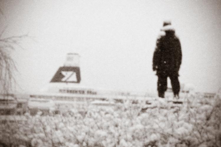 Amundsen statue TromsØ harbour, northern Norway on Mallory on Travel adventure, adventure travel, photography