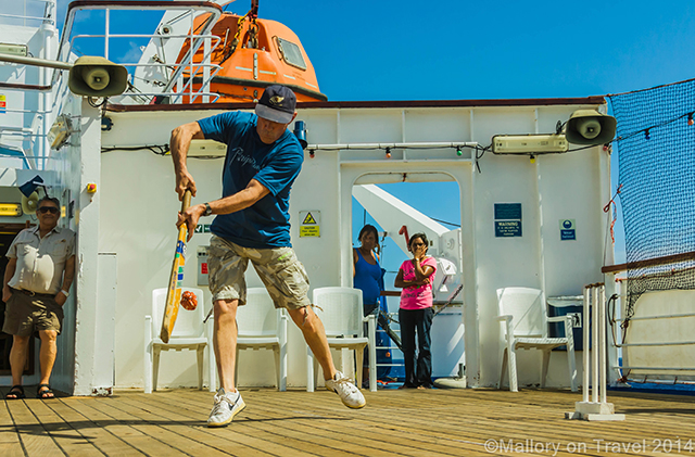 Cricket match aboard the RMS St Helena, supply ship for the South Atlantic island  on Mallory on Travel adventure, adventure travel, photography Iain Mallory-300-10 cruise_entertainment