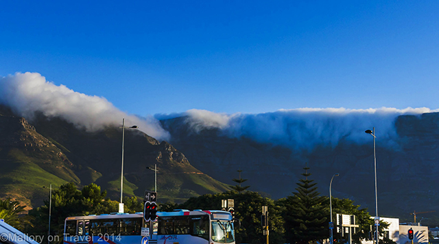 A thick cloud blanketting Table Mountain, Cape Town in the Western Cape, South Africa on Mallory on Travel adventure, adventure travel, photography Iain Mallory-300-21 cape_town