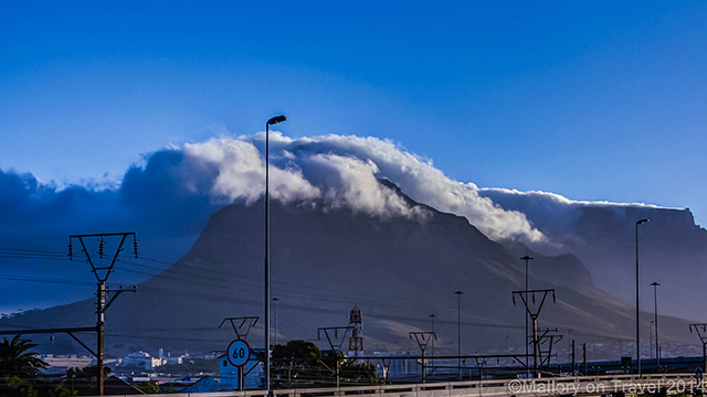 A cloud covered Table Mountain, Cape Town in the Western Cape, South Africa on Mallory on Travel adventure, adventure travel, photography Iain Mallory-300-51 cape_town
