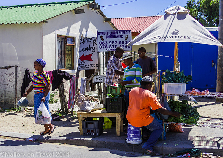 Street vendors in the township of Masiphumelele  near Cape Town, South Africa on Mallory on Travel adventure, adventure travel, photography Iain Mallory-300-60 masiphumelele