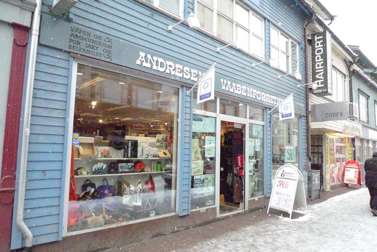 The oldest shop in Scandinavia. Andressens in TromsØ on Mallory on Travel adventure, adventure travel, photography
