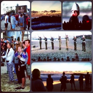 Anzac Day dawn commemrative service on Currumbin Beach, the Gold Coast, Queensland, Australia on Mallory on Travel adventure, adventure travel, photography