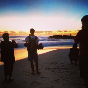 Anzac Day dawn service on Currumbin Beach, the Gold Coast, Queensland, Australia on Mallory on Travel adventure, adventure travel, photography malloryontravel_anzac_silhouette