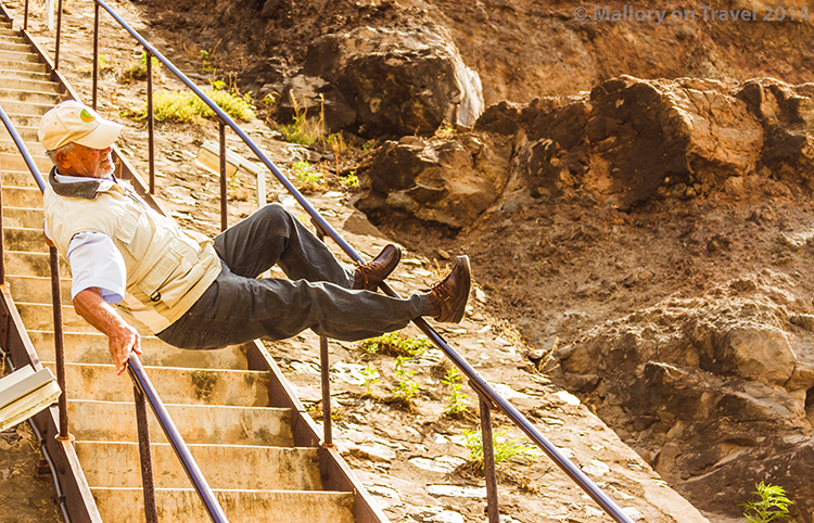 A Saint descends Jacob's Ladder on the remote island of St Helena in the South Atlantic on Mallory on Travel adventure, adventure travel, photography Iain Mallory-300-114 jacobs_ladder