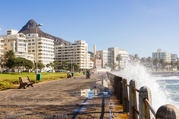 Cape Town photography; crashing waves of the Atlantic Ocean, Sea Point, Cape Town in South Africa on Mallory on Travel adventure, adventure travel, photography Iain Mallory-300-115 seapoint