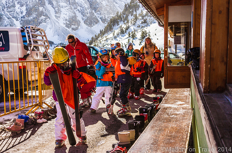 School children skiing in the Catalan Pyrenees at Vallter2000 resort in the Camprodon Valley Mallory on Travel adventure, adventure travel, photographyIain Mallory-300-31 vallter2000