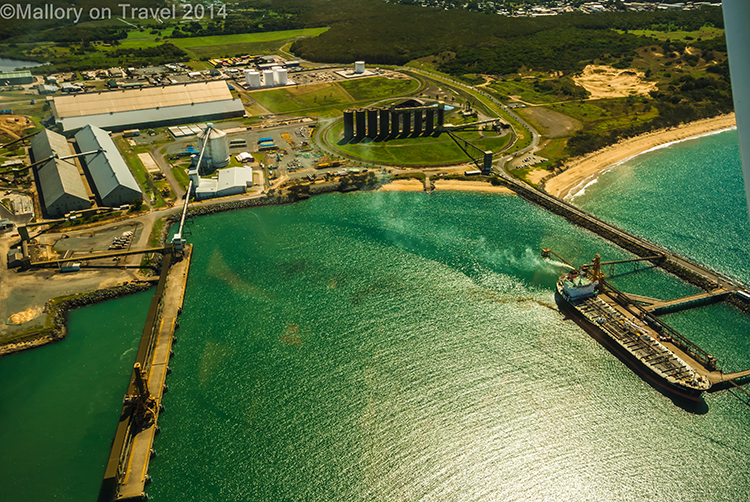 Aerial views of the port at Mackay, Queensland in Australia on Mallory on Travel adventure, adventure travel, photography Iain Mallory-300-439 mackay_port