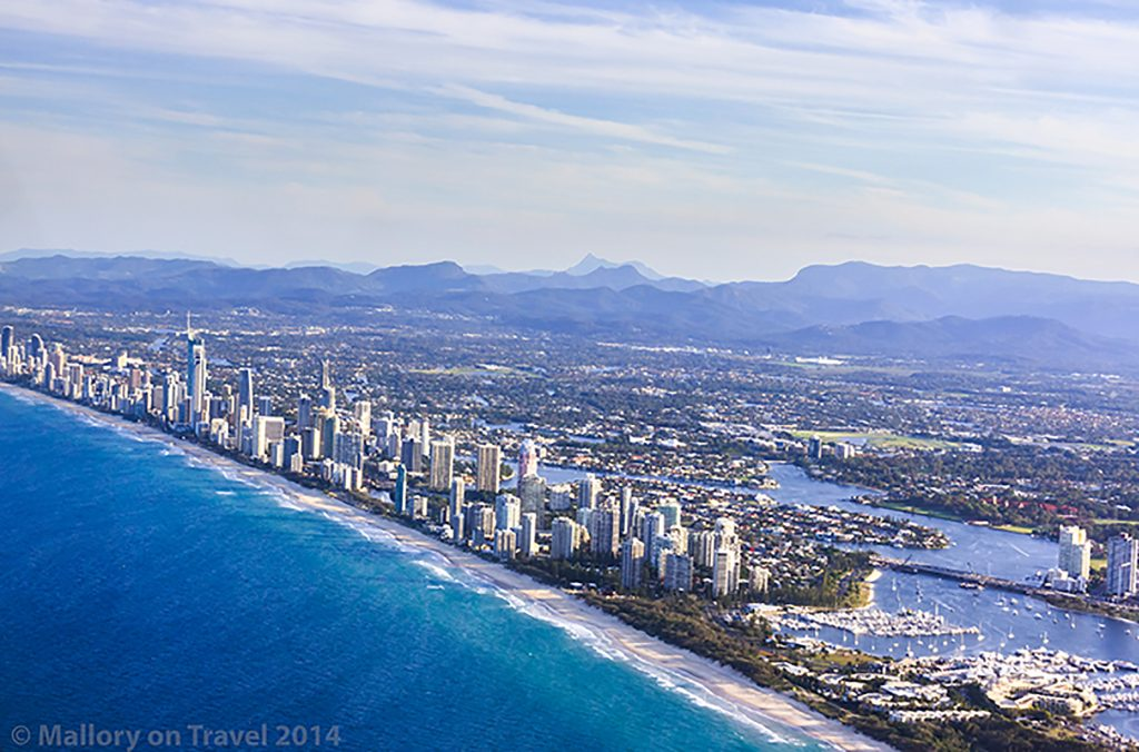 Aerial views of Surfer's Paradise the Gold Coast, Queensland in Australia on Mallory on Travel adventure, adventure travel, photography Iain Mallory-300-450 surfers_paradise