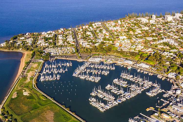 Aerial views of a marina on the Gold Coast, Queensland in Australia on Mallory on Travel adventure, adventure travel, photography Iain Mallory-300-453 aerial_queensland