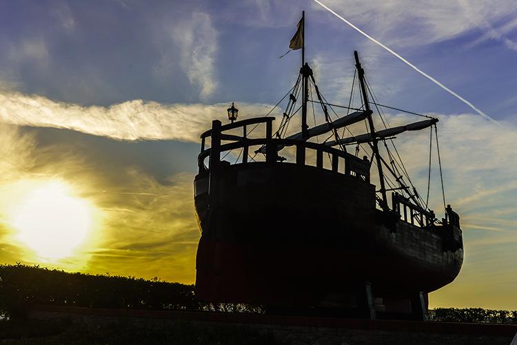 Galleon of Vital Alsar in Parque de La Magdelena in Santander, principality of Cantabria in Northern Spain on Mallory on Travel adventure, adventure travel, photography Iain Mallory-300-7 galleon_vital_alsar