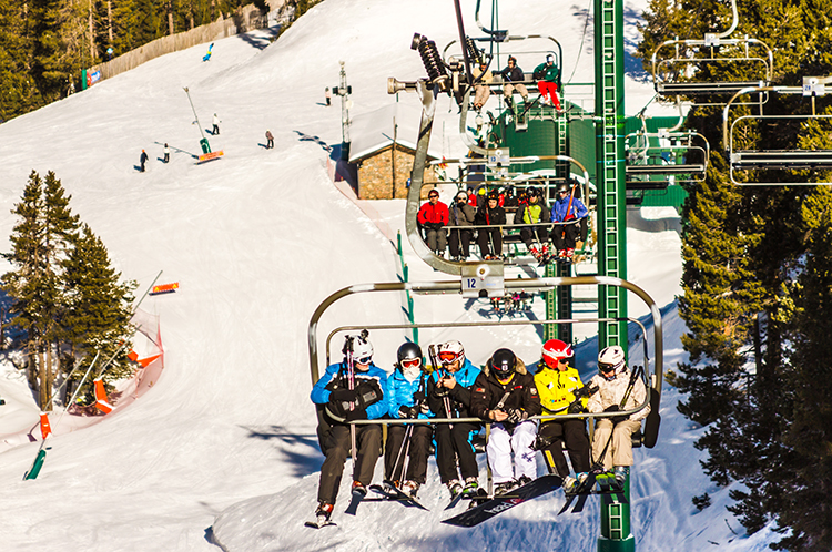 Spanish skiing, riding the chairlifts in the Catalan Pyrenees at Alp2500 twin resorts of la Molina and Massellaon Mallory on Travel adventure, adventure travel, photographyIain Mallory-300-81 alp2500