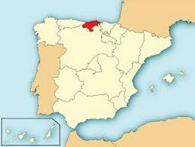 Map of Spain, showing the location of Cantabria, the Northern Spanish principality on Mallory on Travel adventure, adventure travel, photography