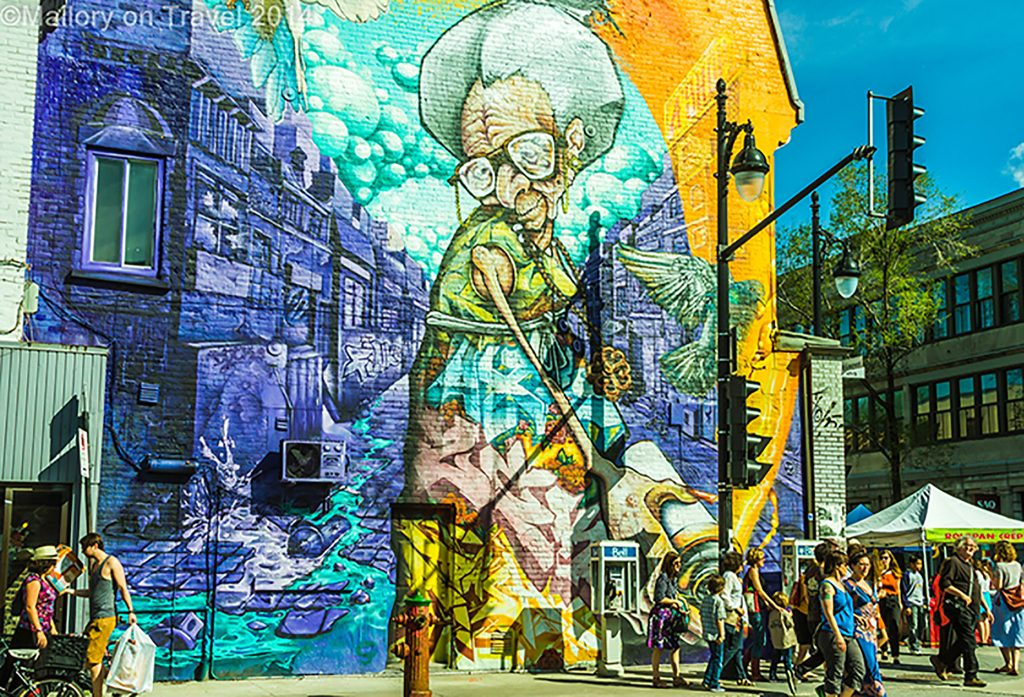 Montreal mural festival of street art, the creative streets of the Quebec province city, Canada on Mallory on Travel adventure, adventure travel, photography Iain Mallory-300-101 montreal_streetart