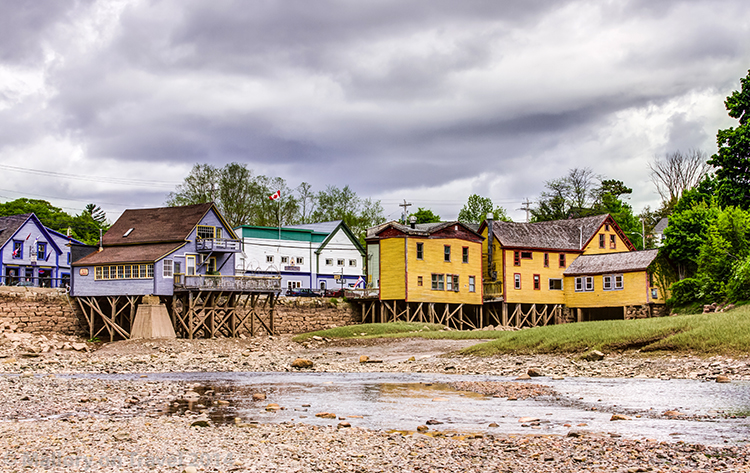 Low tide at Bear River First Nation community in Nova Scotia, Canada on Mallory on Travel adventure, adventure travel, photography Iain Mallory-300-7 bear_river