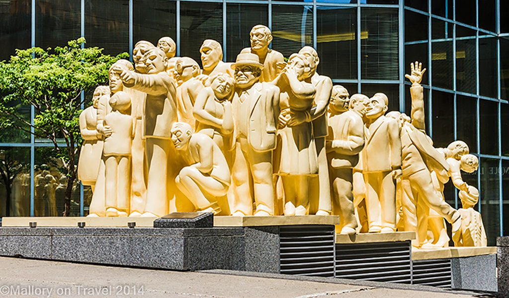 The illuminated crowd statue in Montreal, Quebec, Canada on Mallory on Travel adventure, adventure travel, photography Iain Mallory-300-74 illuminated_crowd