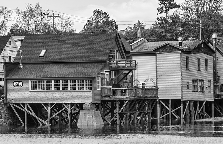High tide at Bear River First Nation community in Nova Scotia, Canada on Mallory on Travel adventure, adventure travel, photography Iain Mallory-300-8BW bear_river