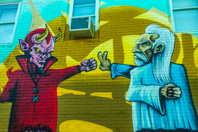 Montreal mural festival of street art, the creative streets of the Quebec province city, Canada on Mallory on Travel adventure, adventure travel, photography Iain Mallory-300-98 montreal_streetart