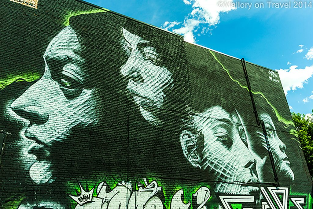 Montreal mural festival of street art, the creative streets of the Quebec province city, Canada on Mallory on Travel adventure, adventure travel, photography Iain Mallory-300-99 montreal_streetart
