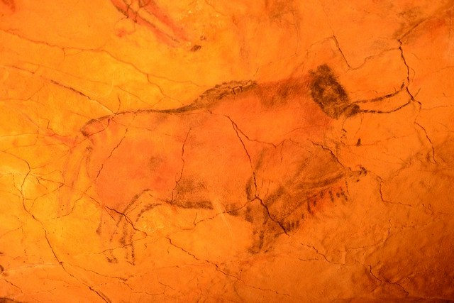 Palaeolithic art on the ceiling of the replica cave at Altimera, in Cantabria, Spain on Mallory on Travel adventure, adventure travel, photography Cantabria 017