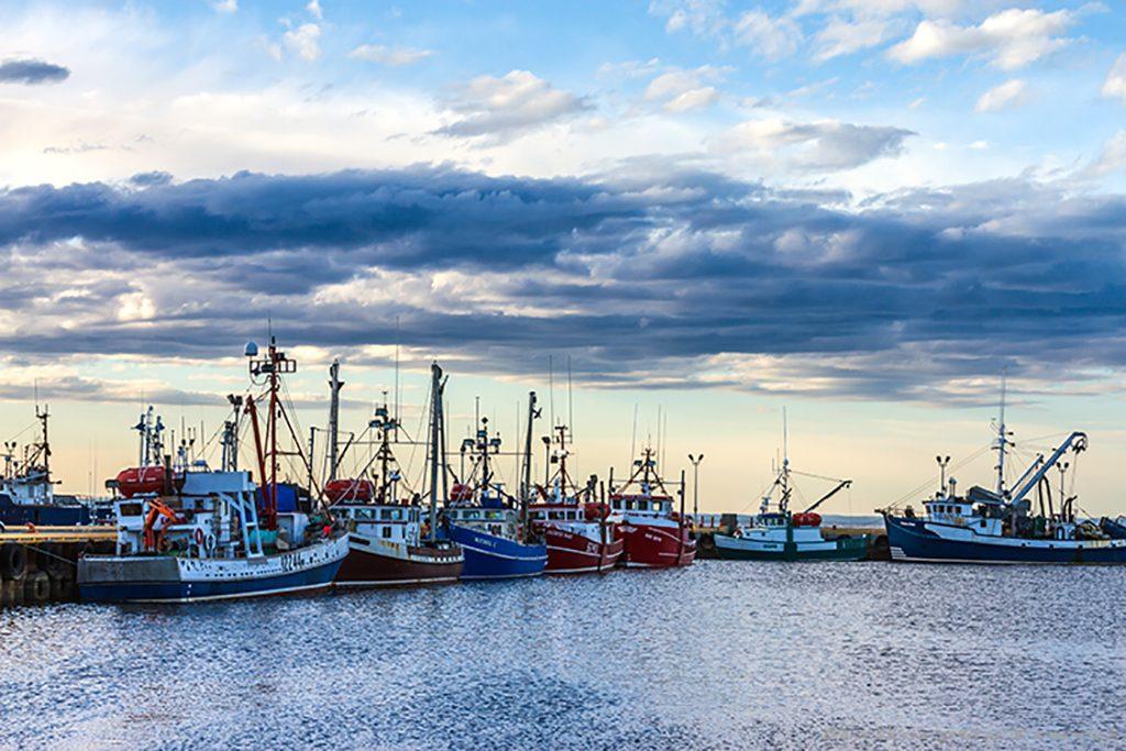 The resting fishing fleet of Caraquet on the north Atlantic coast of New Brunswick, Canada on Mallory on Travel adventure, adventure travel, photography Iain Mallory-185 caraquet_fleet