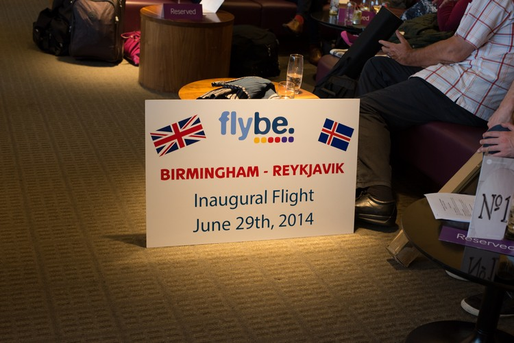 Birmingham International Airport waiting to take the inaugural Flybe flight to Reykjavik, Iceland on Mallory on Travel adventure, adventure travel, photography