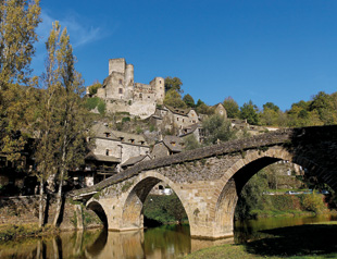 Belcastel bridge near Rodez in the Aveyron region of France on Mallory on Travel adventure, adventure travel, photography