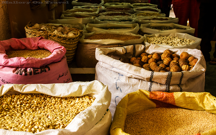 Grain, and spices on sale in Nizwa souk, in the Sultanate of Oman on Mallory on Travel adventure, adventure travel, photography Iain Mallory-100 souk