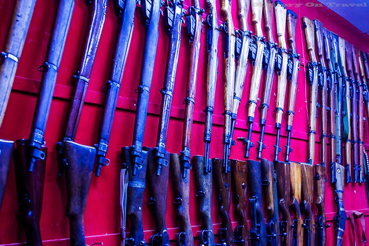 Enfield rifles on sale in the Nizwa souk, in the Sultanate of Oman on Mallory on Travel adventure, adventure travel, photography Iain Mallory-128 enfield_rifles