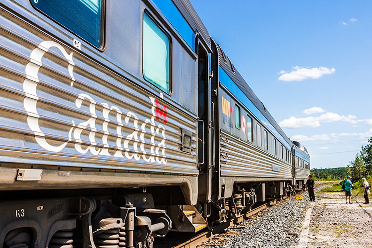"The Via Rail ""Canadian"" which traverses Canada coast to coast on Mallory on Travel adventure, adventure travel, photography Iain Mallory-28-2 canadian_trains"
