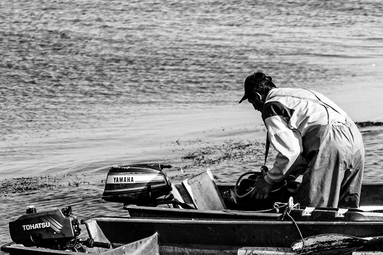 Fisherman in the Gulf Of Riga, the Baltic Sea, Estonia on Mallory on Travel adventure, adventure travel, photography Iain_Mallory_Est1402470 estonian_fisherman