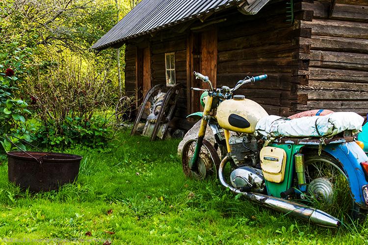 Disused motorbike on Kihnu, Estonia on Mallory on Travel adventure, adventure travel, photography Iain_Mallory_Est1402564 kihnu_motorbike
