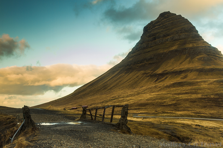 Bridge under Kirkjufell, on the Snaesfellsnes Peninsula, and National Park in Iceland, the Land of Fire, and Ice on Mallory on Travel adventure, adventure travel, photography Iain Mallory-300-14 kirkjufell