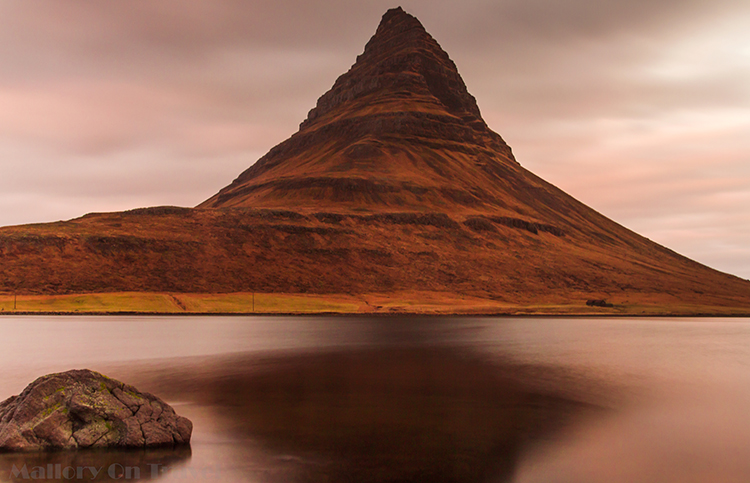 Chasing the early morning light on Kirkjufell, on the Snaesfellsnes Peninsula, and National Park in Iceland, the Land of Fire, and Ice on Mallory on Travel adventure, adventure travel, photography Iain Mallory-300-17 kirkjufell
