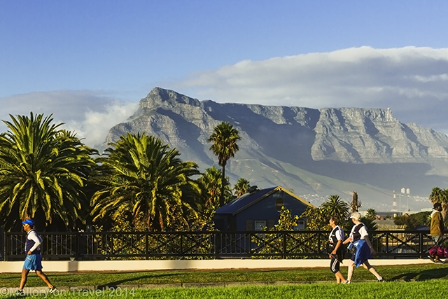 Joggers in the shadow of Table Mountain in Cape Town, South Africa on Mallory on Travel adventure, adventure travel, photography Iain Mallory-300-4 table_mountain