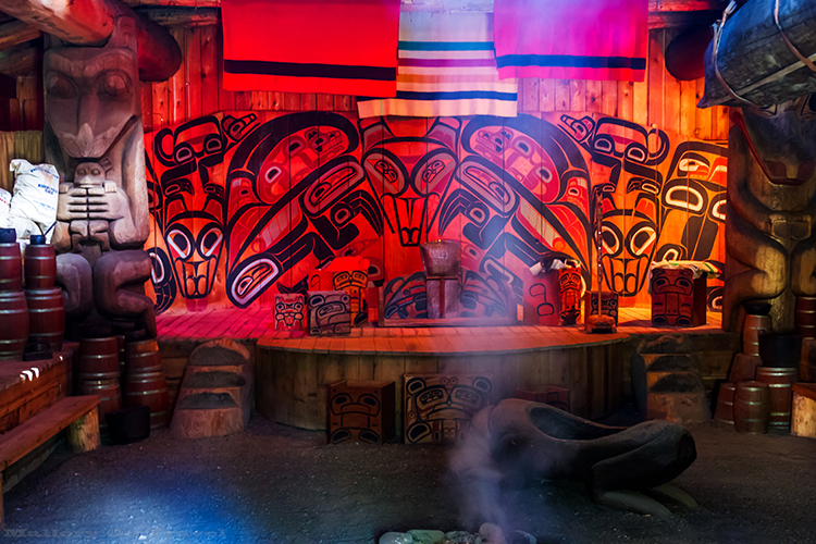 Gitxsan Nation longhouse in the Ksan Historical Village, and Museum in British Columbia, Canada on Mallory on Travel adventure, adventure travel, photography Iain Mallory-32-2 ksan_longhouse
